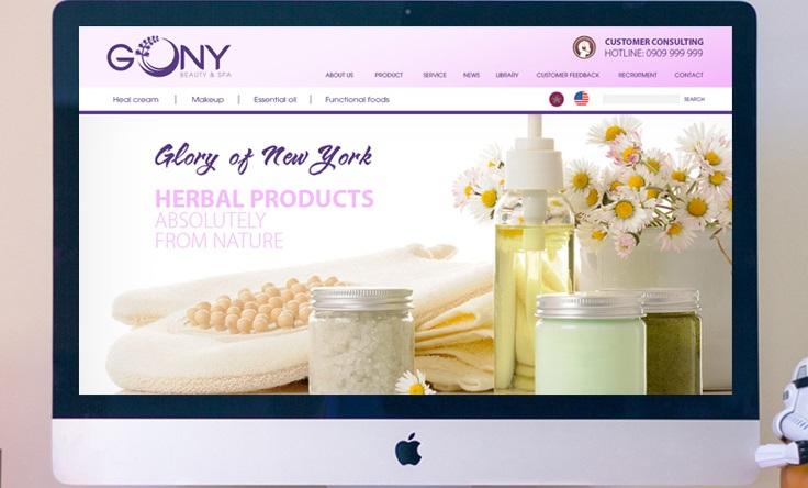 Hình ảnh website Spa Gony do Bigsouth Brand sáng tạo.