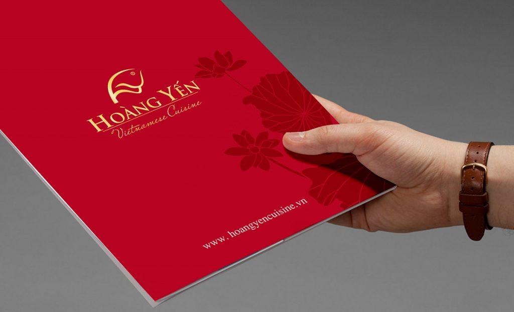 Thiết kế logo nhà hàng Hoàng Yến do Bigsouth Brand thực hiện